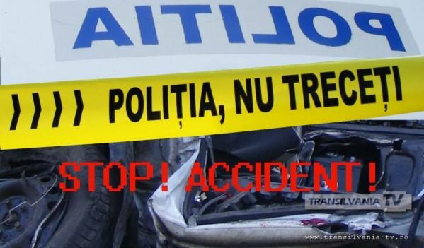 Alba Iulia: S-a urcat beat la volan și a provocat un accident