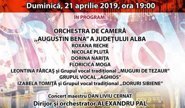Concert extraordinar de Paște la Palatul Cultural din Blaj