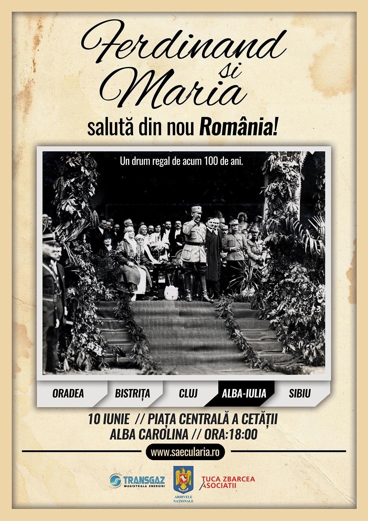 La Alba Iulia, Ferdinand şi Maria salută din nou România!