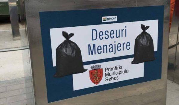14 noi platforme subterane pentru colectarea deșeurilor vor fi realizate în Sebeș