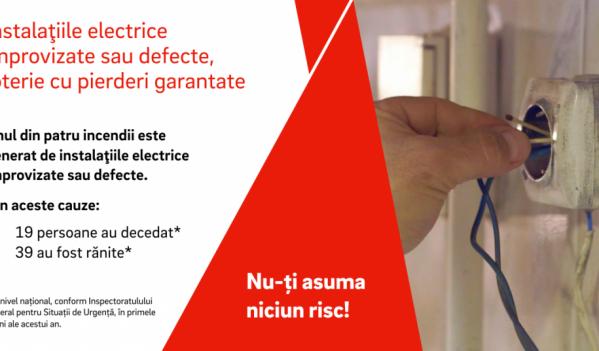 Unul din patru incendii este declanșat de instalaţiile electrice defecte sau improvizate;