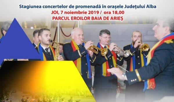 """Fanfara """"Augustin Bena"""" susține concerte în orașele județului Alba"""