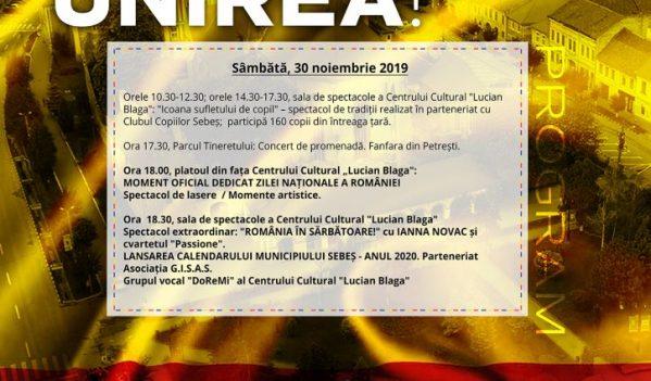 """""""SEBEȘUL ÎN SĂRBĂTOARE!"""": CONCERT EXTRAORDINAR IANNA NOVAC DEDICAT ZILEI NAȚIONALE A ROMÂNIEI"""