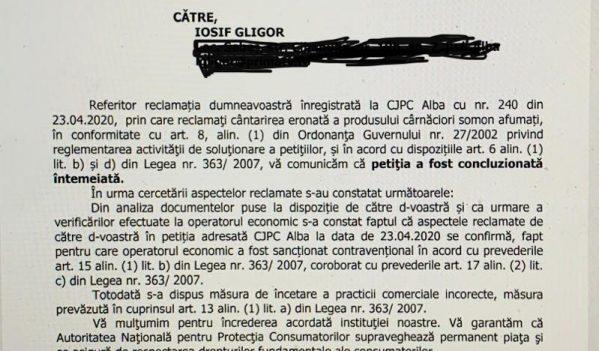 Protectia Consumatorilor confirma ca Selgros Alba Iulia fura clientii!